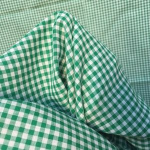 Vintage Green White Gingham Small Check Fabric 2yd